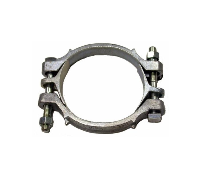 Double bolted heavy duty clamp hose clamps hoses