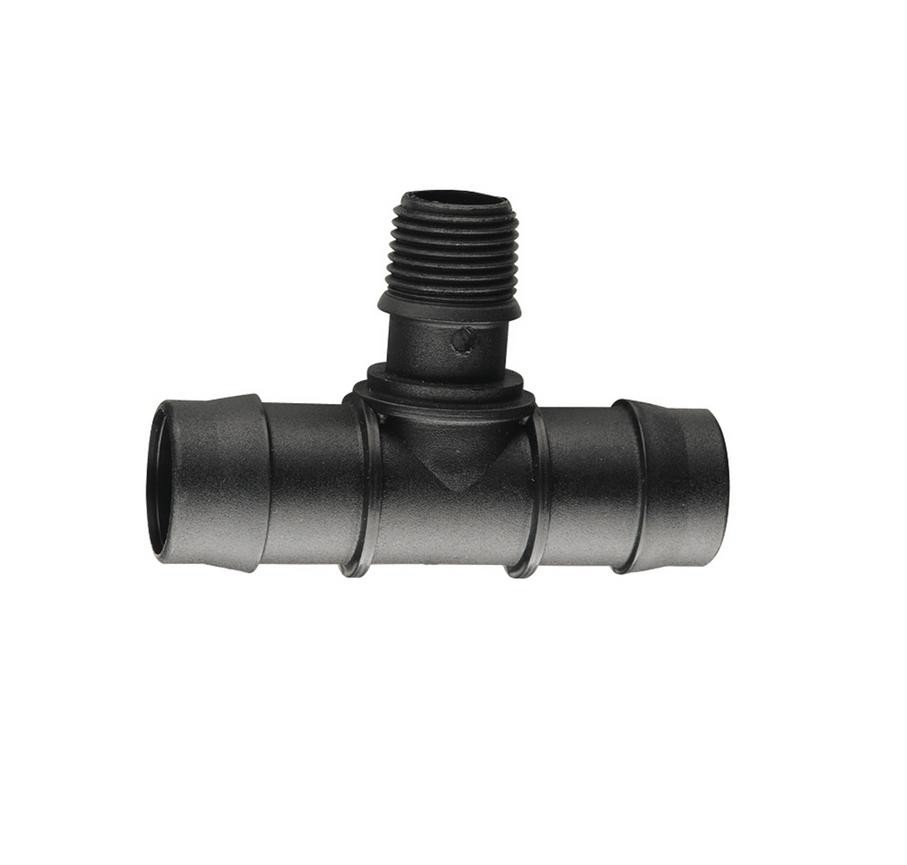 Tee poly ld mm mbsp soft fittings pipe