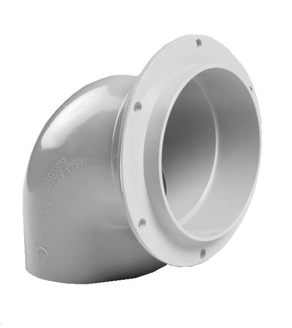 BEND STORM FLANGED 90D X 90MM
