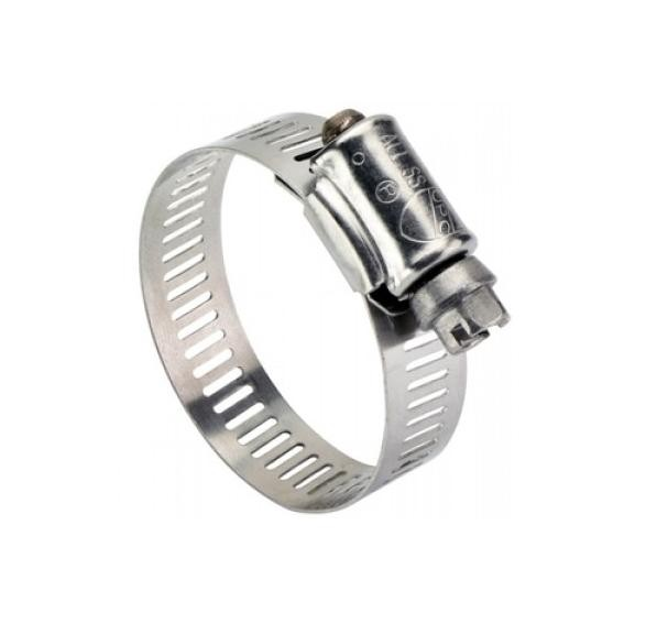 Full Stainless Steel Worm Drive Clamps 17-32mm