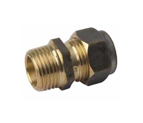 Copper Connector Compression 15mm x 15mm Male