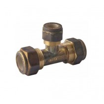 Copper Tee Compression Reducing 20x20x15mm